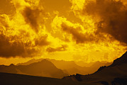 Sunset In Mountains Posters - Sunset Over Mountains Above Suru Poster by Gordon Wiltsie