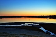 Chatham Framed Prints - Sunset Over Oyster Pond Framed Print by Alex Schindel