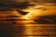Caroline Islands Prints - Sunset Over Pacific Ocean, Yap Islands Print by Joe Stancampiano