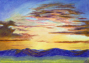 North Wales Pastels - Sunset over Preseli by Edward McNaught-Davis