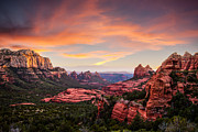 Sedona. Sunset Framed Prints - Sunset Over Sedona Framed Print by Brad Boserup