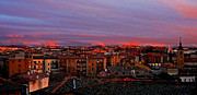 Spanien Photos - Sunset over Segovia ... by Juergen Weiss