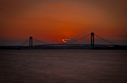 New York Harbor Prints - Sunset over Staten Island Print by David Hahn