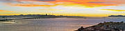 Bay Bridge Art - Sunset over the Bay by Kelley King
