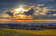 Traverse Bay Photos - Sunset over the Bay by Twenty Two North Gallery