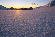 Snow Scenes Prints - Sunset Over The Combatant Col Print by Jimmy Chin