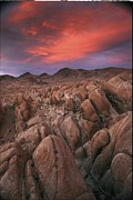 Alabama Hills Framed Prints - Sunset Over The Desolate Alabama Hills Framed Print by Phil Schermeister