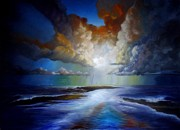 Oils Originals - Sunset Over The Hebrides  by Paul Gilbert Baswell
