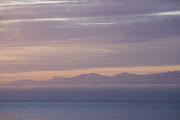 Juan De Fuca Framed Prints - Sunset Over The Juan De Fuca Strait Framed Print by Taylor S. Kennedy