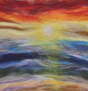 Felting Prints - Sunset over the Ocean  Print by Gina Barakov