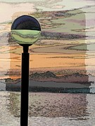 Nautical Digital Art - Sunset Over The Olympics by Tim Allen