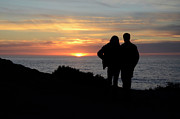 Couples Prints - Sunset Over the Pacific Print by Bob Christopher