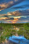 Miami River Photos - Sunset over the River of Grass by William Wetmore