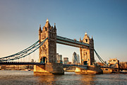 London Structure Prints - Sunset Over Tower Bridge, London Print by Nina K Claridge
