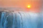 Zimbabwe Photos - Sunset Over Victoria Falls, Zimbabwe by Kevin Schafer