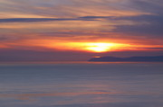 Visual Artist Metal Prints - Sunset. Pacific Ocean and Catalina Island Metal Print by Viktor Savchenko