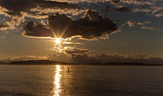 Sunset Photos - Sunset Paddleboarder by Mike Reid
