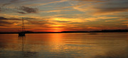 Judee Stalmack Framed Prints - Sunset Panorama Framed Print by Judee Stalmack