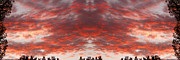 Psychedelic Photo Prints - Sunset Panorama Psychedelic Trance Print by James Bo Insogna