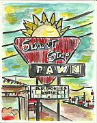 Sunset Pawn Print by Matt Gaudian