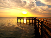 Destin Art - Sunset Pier Destin by James Granberry
