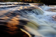Blur Originals - Sunset reflection on waterfall by Romeo Koitmae