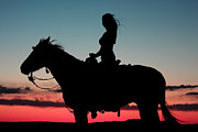 Sunset Ride Print by Val Armstrong