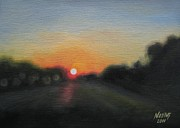 Jindra Noewi Prints - Sunset Road Print by Jindra Noewi