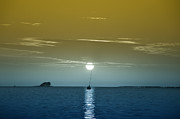 Boat Digital Art - Sunset Sails by Bill Cannon