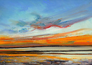 Horizon Pastels - Sunset Sea 1 by Paul Mitchell