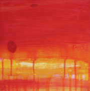 Mccoy Painting Posters - Sunset Series Untitled II Poster by Nickola McCoy-Snell