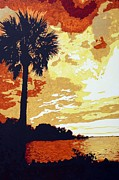 Sunset  Print by Sheri Parris