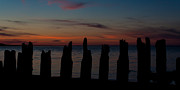 Maritimes Prints - Sunset Silhouette Print by Matt Dobson