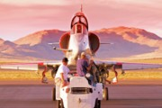 Jet Fighter Photo Posters - Sunset Skyhawk Poster by Gus McCrea