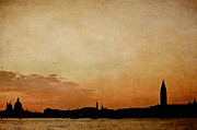 Italian Sunset Posters - Sunset Skyline From S Maria To San Marco Poster by Alexandre Fundone