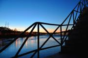 Schuylkill Photos - Sunset Staircase by Andrew Dinh