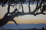 Leopard Print Paintings - Sunset Stretch by Alan Wilkinson