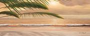 Sunset Surf Panoramic Print by Diane Romanello
