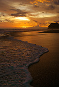 Costa Rica Posters - Sunset Surf Playa Hermosa Costa Rica Poster by Michelle Wiarda