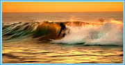 Linda Olsen Metal Prints - Sunset Surfer Metal Print by Linda Olsen