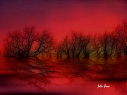 Sunset Trees Print by Julie  Grace