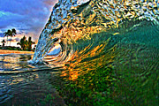 Laniakea Beach Prints - Sunset Tube Print by Paul Topp