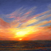 Barrette Painting Originals - Sunset VI by Elaine Farmer