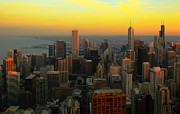 View. Chicago Photos - Sunset View At Chicago by Acroview