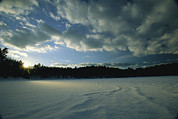 Walden Pond Photo Posters - Sunset Viewed From The Frozen Surface Poster by Tim Laman