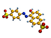 Controversial Photos - Sunset Yellow Food Colouring Molecule by Dr Mark J. Winter