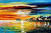 Athens Prints - Sunsets Smile Print by Leonid Afremov