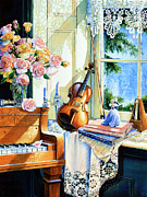 Piano Painting Originals - Sunshine And Happy Times by Hanne Lore Koehler