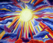Sun Rays Paintings - Sunshine by Anna Lobsanova