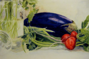 Green Beans Paintings - Sunshine in the kitchen by Jaymi Krystowiak